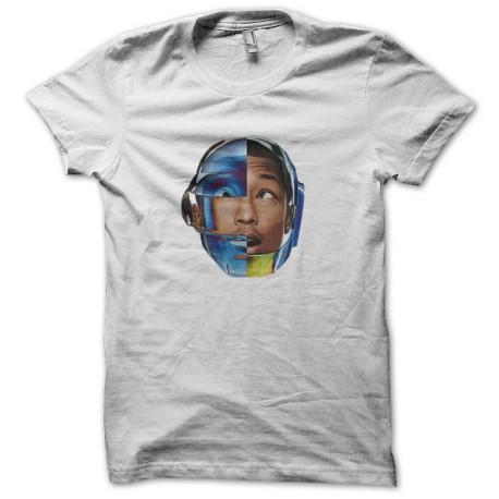 tee shirt pharrell williams avec le casque daft punk blanc