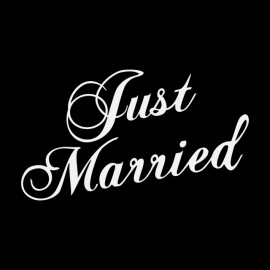 Tee Shirt Just Married Black