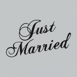 Tee Shirt Just Married Grey