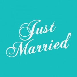 Tee Shirt Just Married Teal