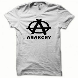 Tee shirt Anarchy noir/blanc mixtes tous ages