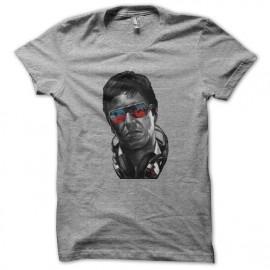 tee shirt tony montana fashion en gris
