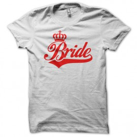 Tee Shirt Bride Red on White
