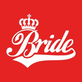 Tee Shirt Bride White on Red