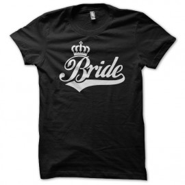 Tee Shirt Bride White on Black