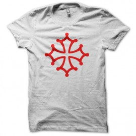 Tee Shirt Occitan Cross Red on White