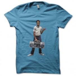 tee shirt kid guetto blaster bleu ciel