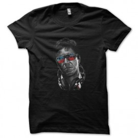 tee shirt dj tony montana en noir