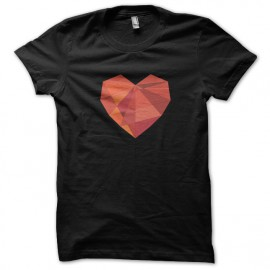 tee shirt heart noir
