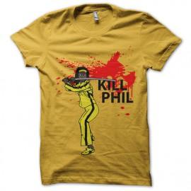 tee shirt michonne kill phil parodie kill bill jaune