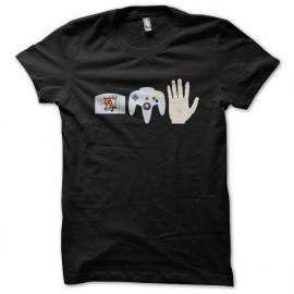 tee shirt super mario console game noir