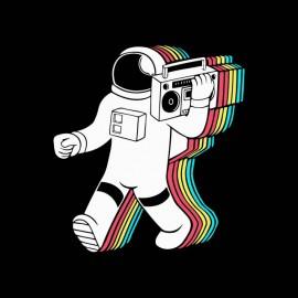 tee shirt astronaut music noir