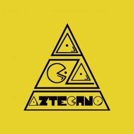 tee shirt LogoAztechno jaune