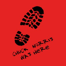 tee shirt chuck norris was here red