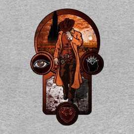 tee shirt The Gunslinger's Creed grey