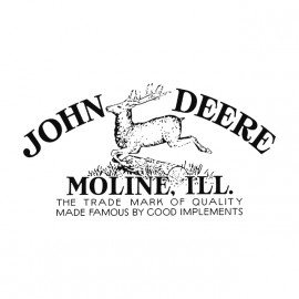 tee shirt John deers grey