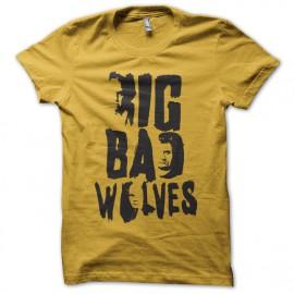tee shirt big bad wolves film tarantino jaune
