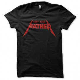 Tee Shirt Obey Your Father Red on Black