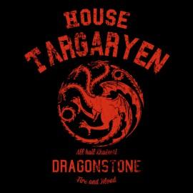 Tee Shirt GoT house targaryen University Noir