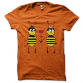 tee shirt Bee Love orange