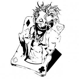 tee shirt joker card white