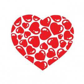 tee shirt Heart blanc