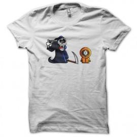tee shirt South Park skull blanc