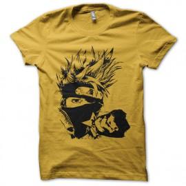tee shirt kakashi naruto artistique jaune