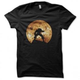 tee shirt wolverine ombre pleine lune arriere plan noir