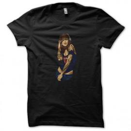 tee shirt sexy girl black