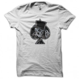 tee shirt skull spade  white