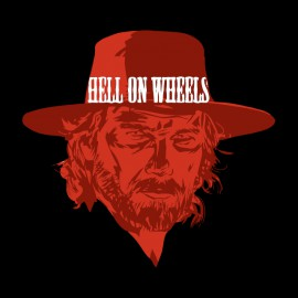 tee shirt hell on wheels noir