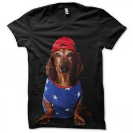 tee shirt ropa a la moda para perros black