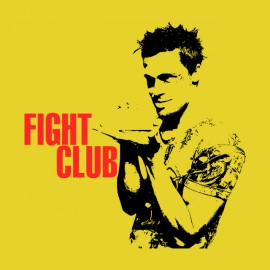 tee shirt Fight Club Poster jaune