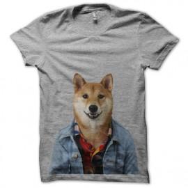 tee shirt menswear dog heath grey