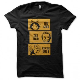 tee shirt one piece parodie film le bon la brute et le truand noir