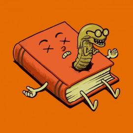 tee shirt book and alian orange