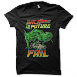 tee shirt back to the future fail noir