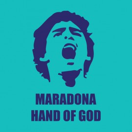tee shirt maradona hand of god bluesky