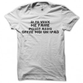 tee shirt cuvette couple ipad blanc
