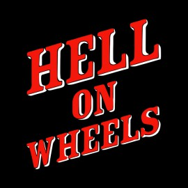 tee shirt hell on wheels logo noir
