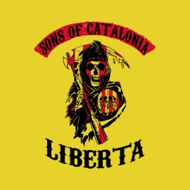 tee shirts Sons of catalonia parodie SOA jaune