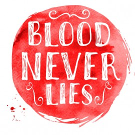 Tee Shirt Dexter - Blood Never lies - BLANC