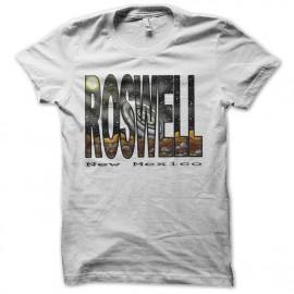 tee shirt roswell nouveau mexique blanc