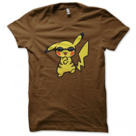 tee shirt pikachu danse le gangnam style marron