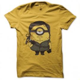 tee shirt daryl dixon parodie minion jaune
