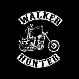 tee shirt daryl dixon the walker hunter parodie Son of anarchy blanc sur noir