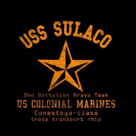 Tee Shirt Alien USS SULACO noir