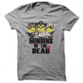 tee shirt minions of the dead parodie walking dead gris