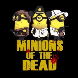 tee shirt minions of the dead parodie the walking dead noir
